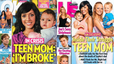 Tabloids Glamorizing Teen Pregnancy By Putting Teen Moms on Covers?